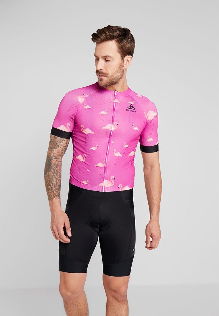 ODLO - MEN STAND UP COLLAR FULL ZIP PERFORMANCE - T-shirt imprimé - pink