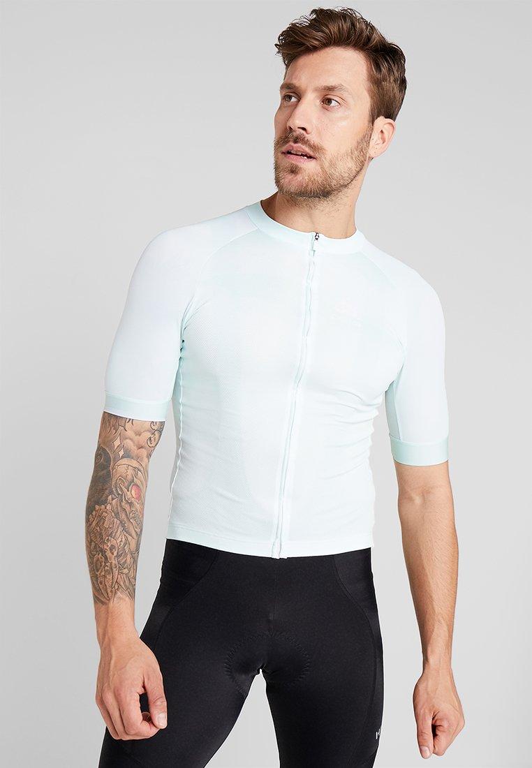 ODLO - MEN STAND UP COLLAR FULL ZIP PERFORMANCE - T-Shirt print - wispering blue