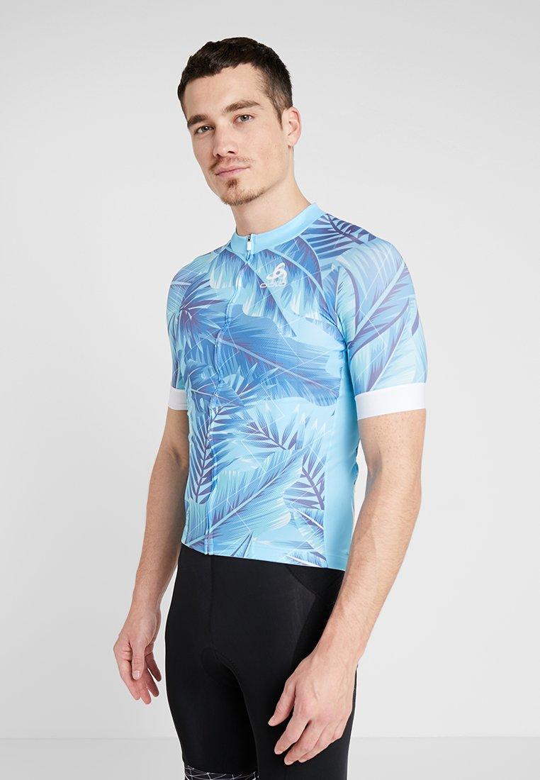 ODLO - MEN STAND UP COLLAR FULL ZIP PERFORMANCE - Print T-shirt - blue