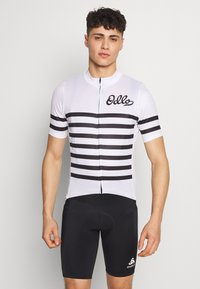 ODLO - STAND UP COLLAR FULL ZIP ELEMENT - T-Shirt print - white/black - 0