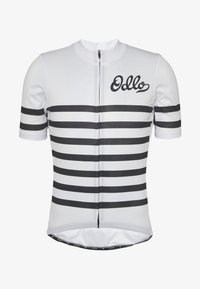 ODLO - STAND UP COLLAR FULL ZIP ELEMENT - T-Shirt print - white/black - 3