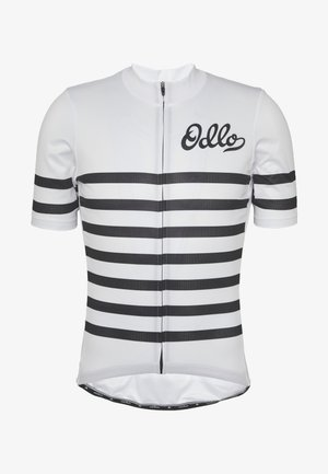 STAND UP COLLAR FULL ZIP ELEMENT - T-Shirt print - white/black