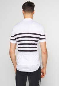 ODLO - STAND UP COLLAR FULL ZIP ELEMENT - T-Shirt print - white/black - 2