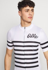 ODLO - STAND UP COLLAR FULL ZIP ELEMENT - T-Shirt print - white/black - 4