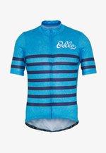 STAND UP COLLAR FULL ZIP ELEMENT - Print T-shirt - blue aster melange/estate blue