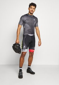 ODLO - STAND UP COLLAR FULL ZIP ELEMENT - T-Shirt print - black/graphite grey/white - 1