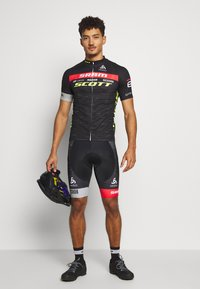 ODLO - STAND UP COLLAR FULL ZIP SCOTT SRAM - T-Shirt print - black - 1