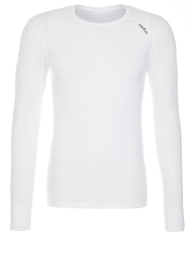CREW NECK - Top sdlouhým rukávem - white