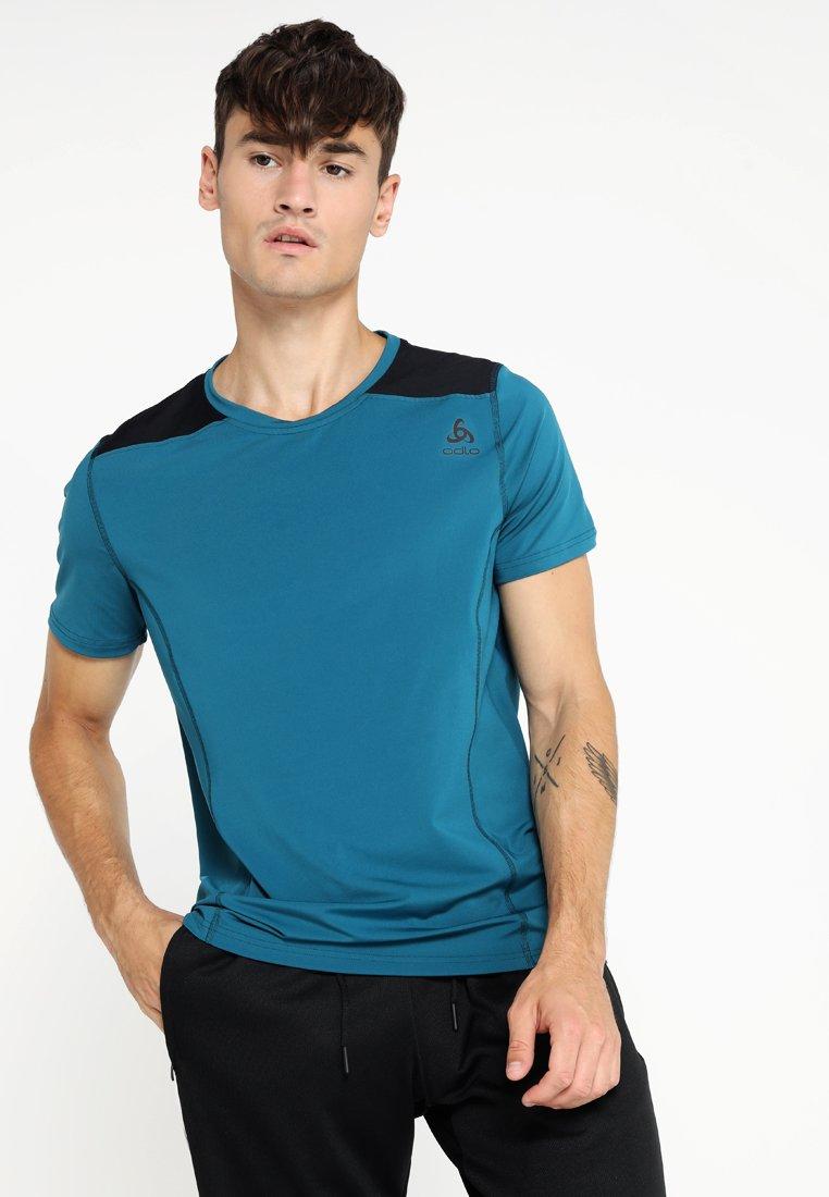 ODLO - CREW NECK  - T-shirt basic - blue coral/black
