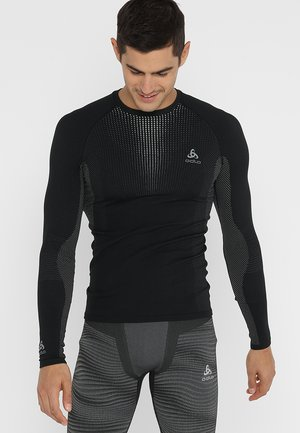 CREW NECK PERFORMANCE WARM - Undershirt - black/odlo concrete grey