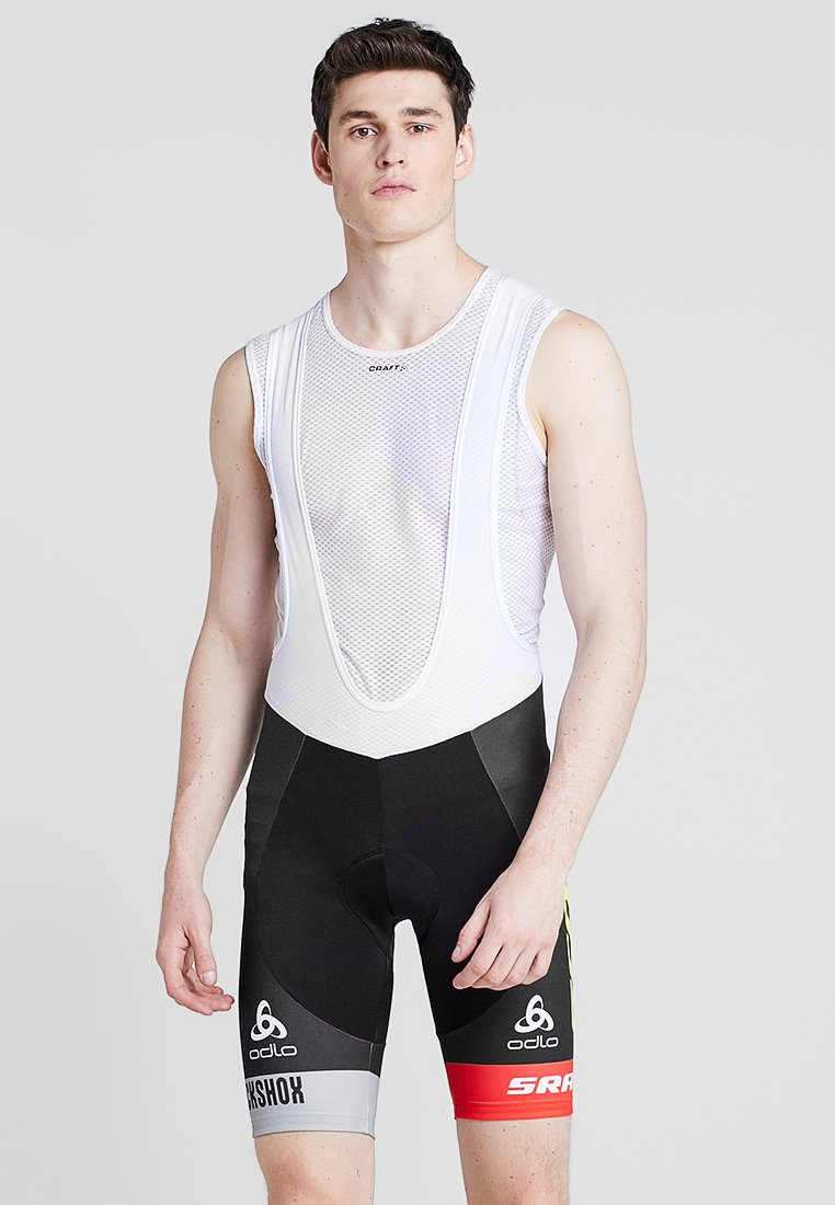 ODLO - SHORT SUSPENDERS SCOTT SRAM RACIN - Tights - black