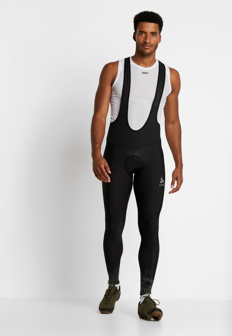 ODLO - TIGHTS SUSPENDERS ZEROWEIGHT  - Tights - black