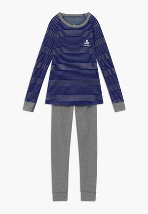 ACTIVE WARM KIDS SET - Tílko - vivid blue/grey melange