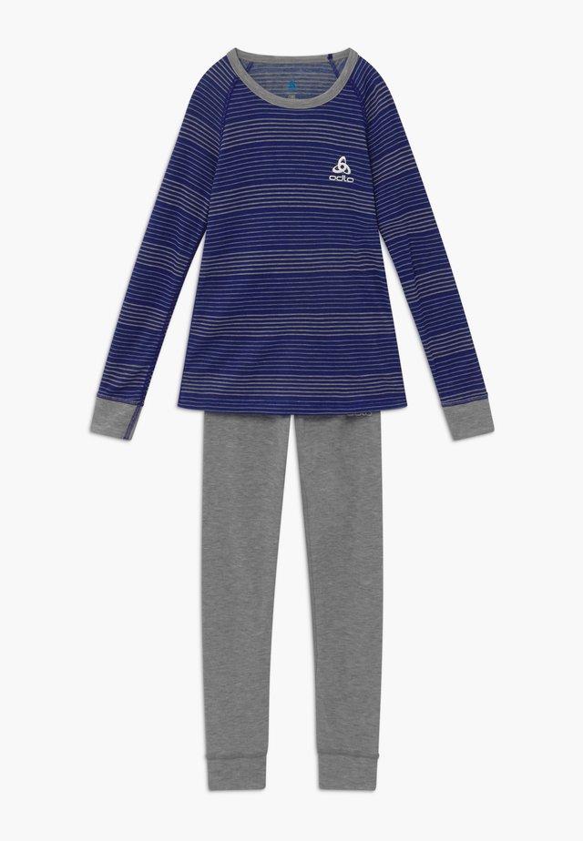 ACTIVE WARM KIDS SET - Hemd - vivid blue/grey melange