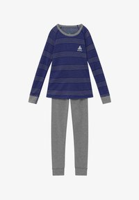 ODLO - ACTIVE WARM KIDS SET - Tílko - vivid blue/grey melange - 3