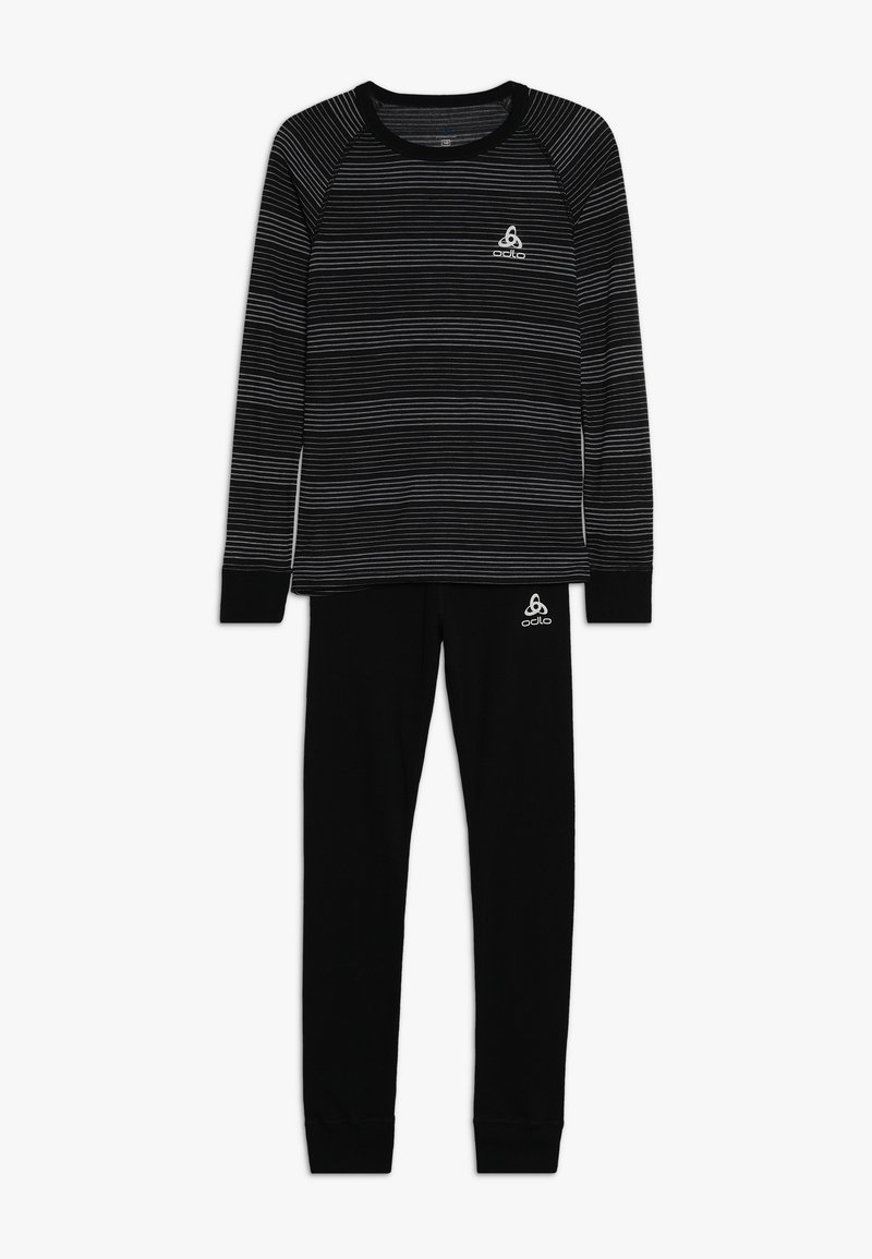 ODLO - LONG WARM SET - Unterhemd/-shirt - black/grey