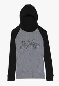 ODLO - WITH FACEMASK WARM - Long sleeved top - black/grey melange - 0