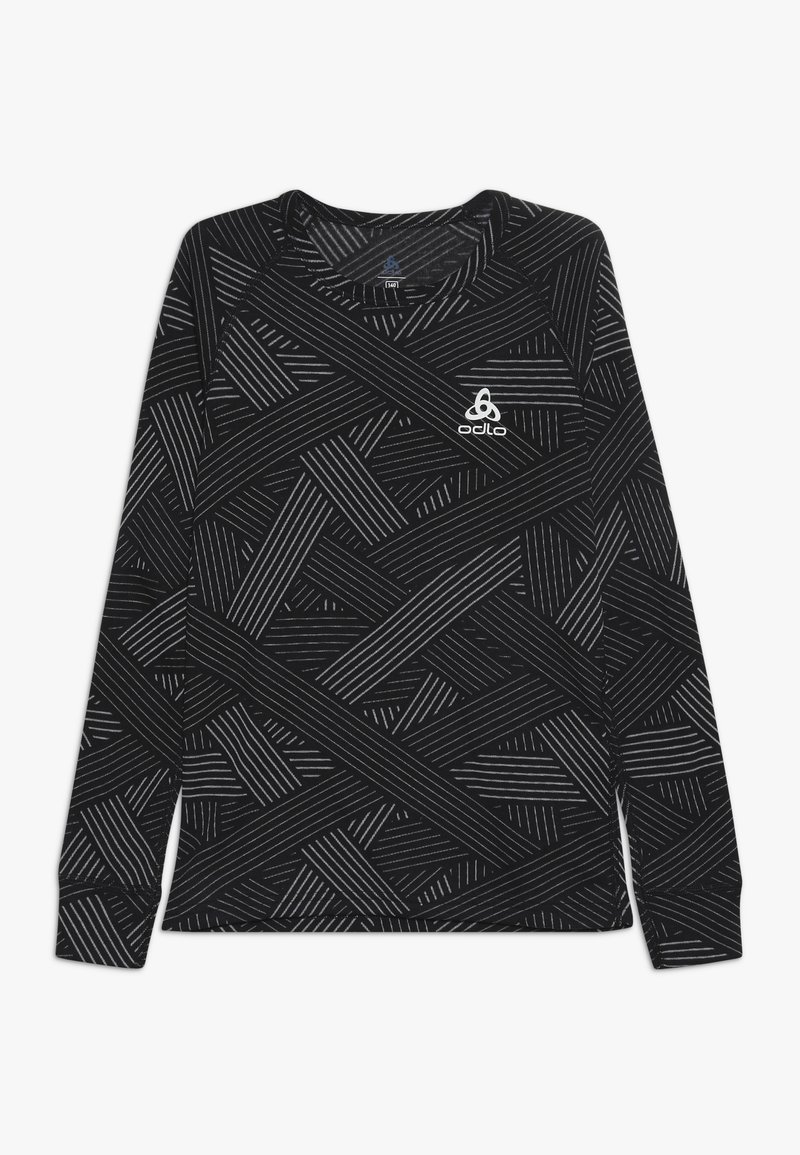ODLO - CREW NECK WARM TREND KIDS - T-shirt à manches longues - black/grey melange