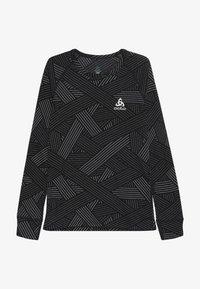 ODLO - CREW NECK WARM TREND KIDS - T-shirt à manches longues - black/grey melange - 2