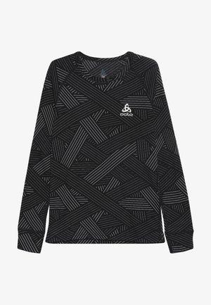 CREW NECK WARM TREND KIDS - Langarmshirt - black/grey melange
