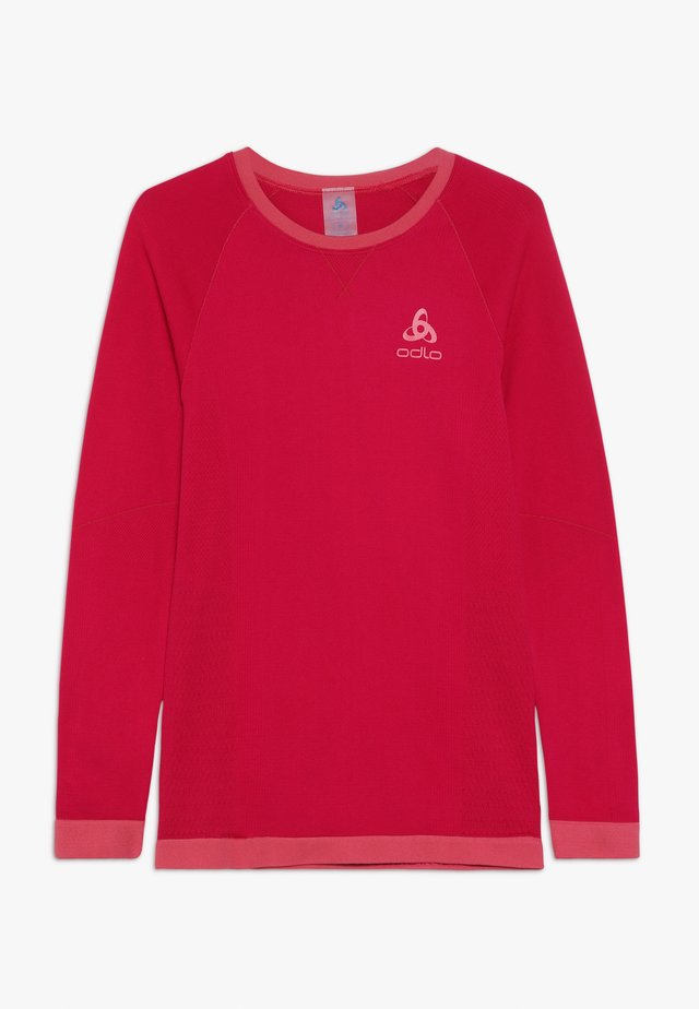 CREW NECK PERFORMANCE WARM KIDS  - Unterhemd/-shirt - cerise/fruit dove