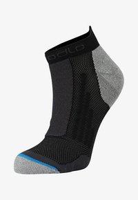 ODLO - SOCKS SHORT RUNNING LOW CUT              - Sportovní ponožky - black/grey melange - 0