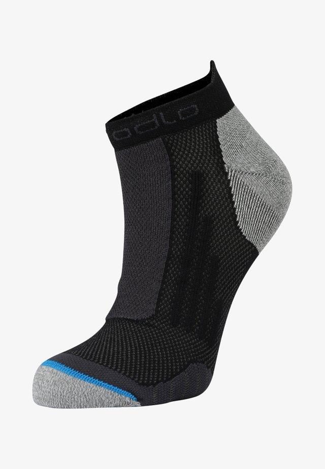 SOCKS SHORT RUNNING LOW CUT              - Sportovní ponožky - black/grey melange