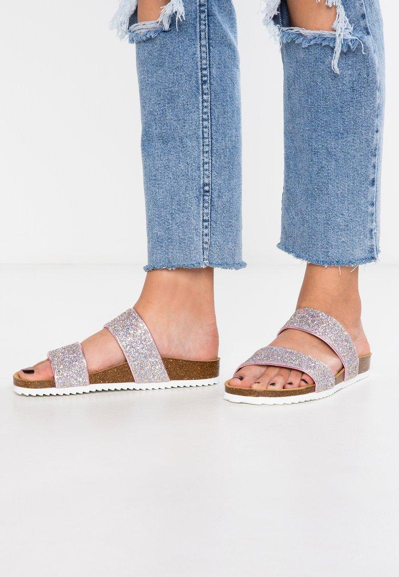 Office - OSLO - Domácí obuv - pink glitter