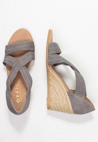 Office - MAIDEN - Wedge sandals - grey - 3