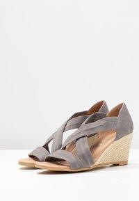Office - MAIDEN - Wedge sandals - grey - 4