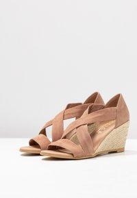 Office - MAIDEN - Wedge sandals - nude - 4