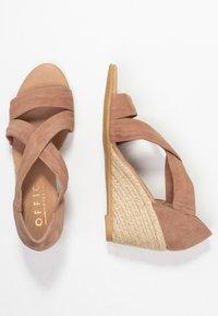 Office - MAIDEN - Wedge sandals - nude - 3