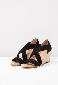 Office - MAIDEN - Wedge sandals - black - 4