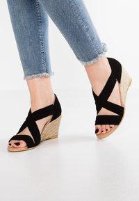 Office - MAIDEN - Wedge sandals - black - 0