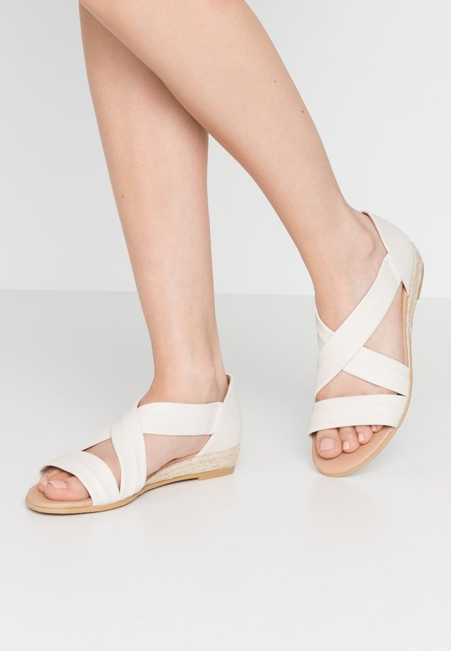 HALLIE - Wedge sandals - offwhite