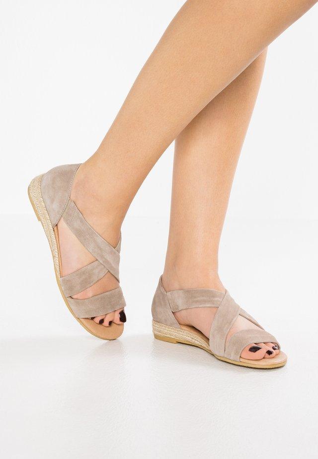 HALLIE - Wedge sandals - camel