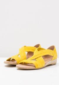Office - HALLIE - Sandály na klínu - yellow - 3
