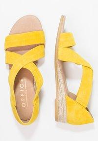 Office - HALLIE - Sandály na klínu - yellow - 2