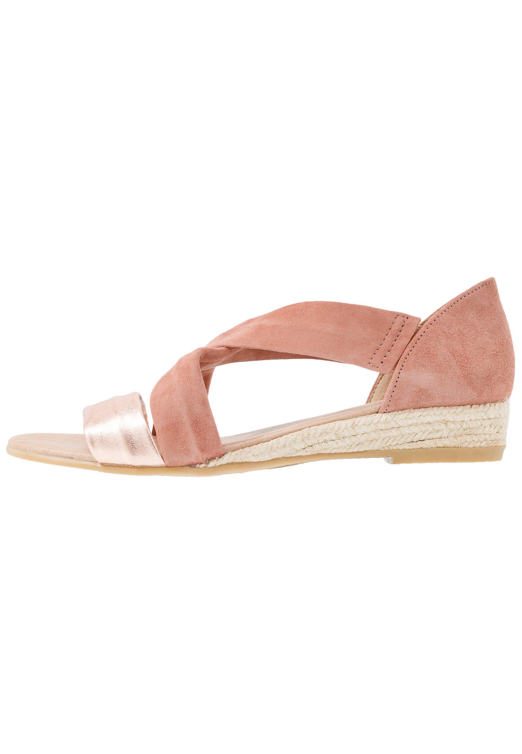 Office Hallie - Sandaletter Med Kilklack Gold