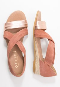 Office - HALLIE - Wedge sandals - terracotta/rose gold - 3