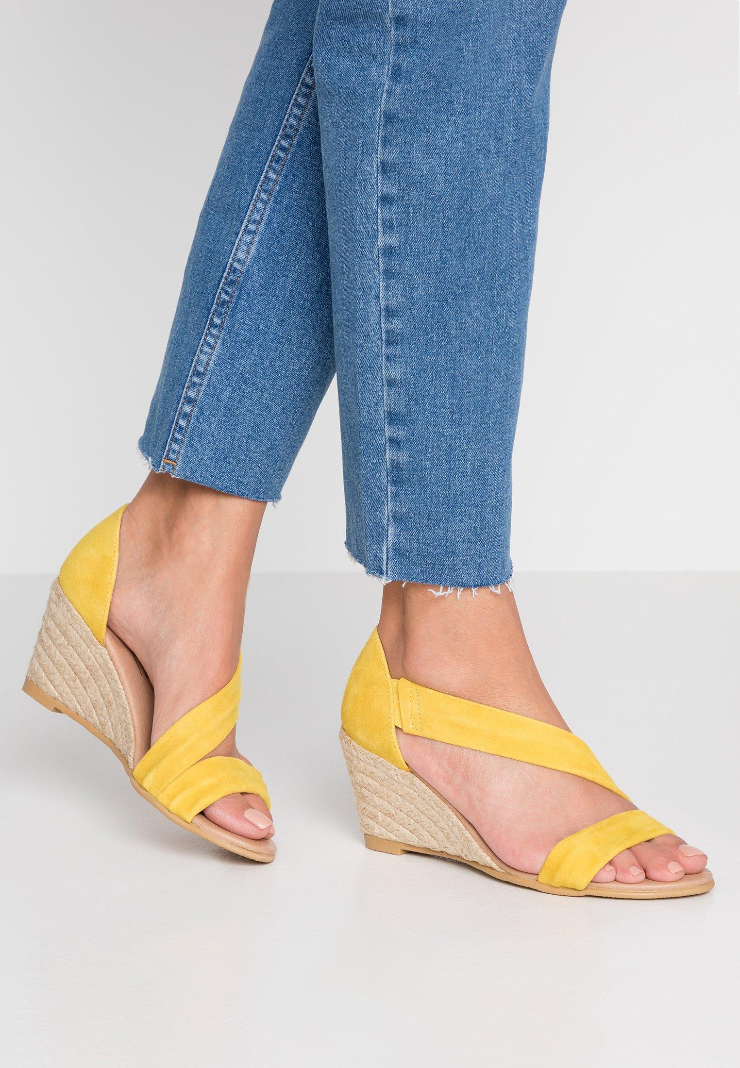 Office MAID Sandały na koturnie gold sandały na koturnie