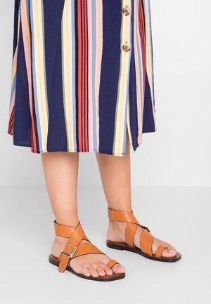 SERENITY - T-bar sandals - tan