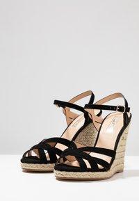 Office - HALFMOON - Sandály na vysokém podpatku - black - 4