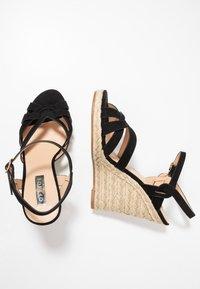 Office - HALFMOON - Sandály na vysokém podpatku - black - 3