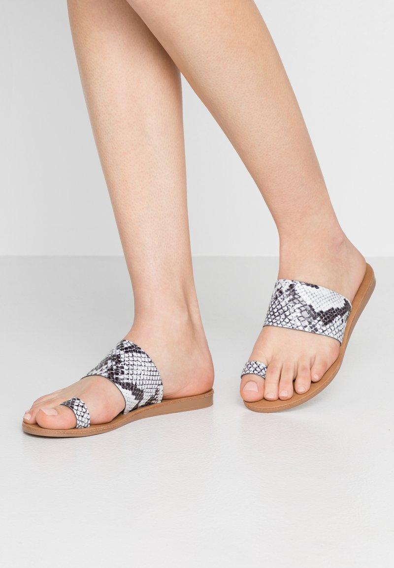Office - T-bar sandals - grey
