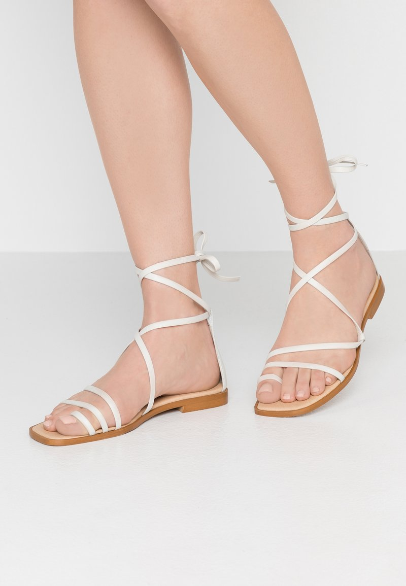 Office - SEAWEED - T-bar sandals - white