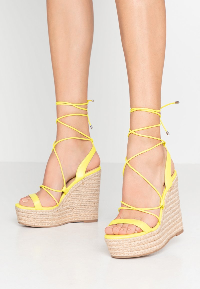 Office - HULA - High heeled sandals - yellow neon