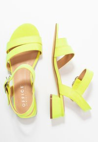 Office Wide Fit - MARIA WIDE FIT - Sandály - acid yellow - 3