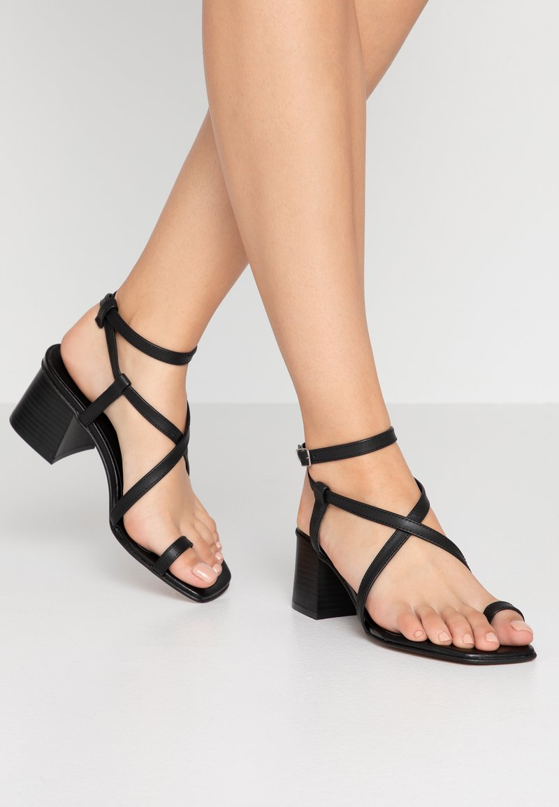 Office - MINERAL - T-bar sandals - black
