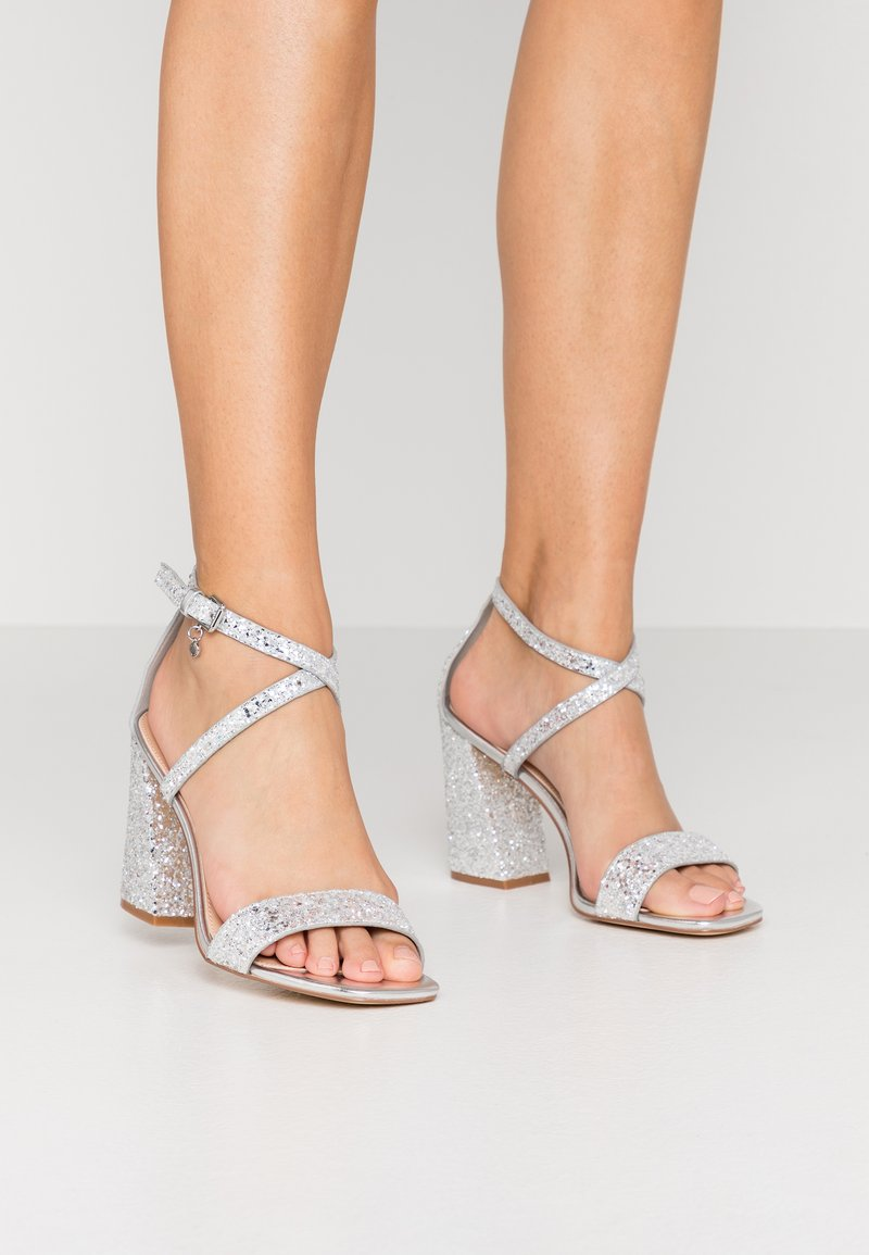 Office - HEAVEN-SENT - High heeled sandals - silver glitter